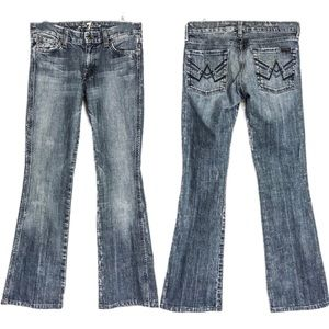 "7 for all mankind sz 27 med wash ""a"" pocket jeans"